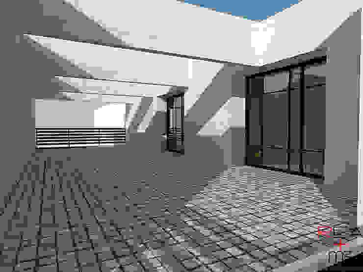Departamentos CDMX Balcones y terrazas modernos de REA + m3 Taller de Arquitectura Moderno