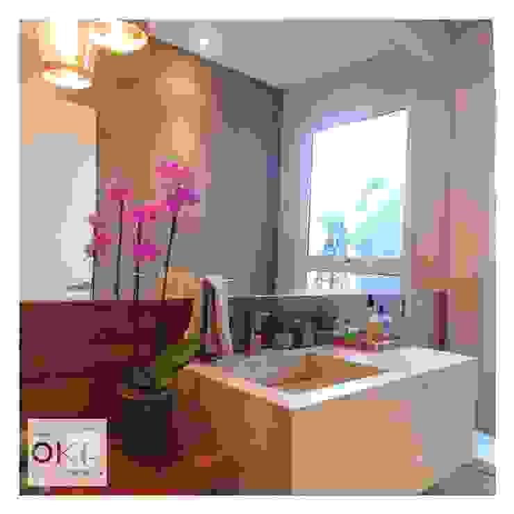 Banheiros e Lavabos Alessandra Orsi - Studio OKA Arquitetura Banheiros minimalistas