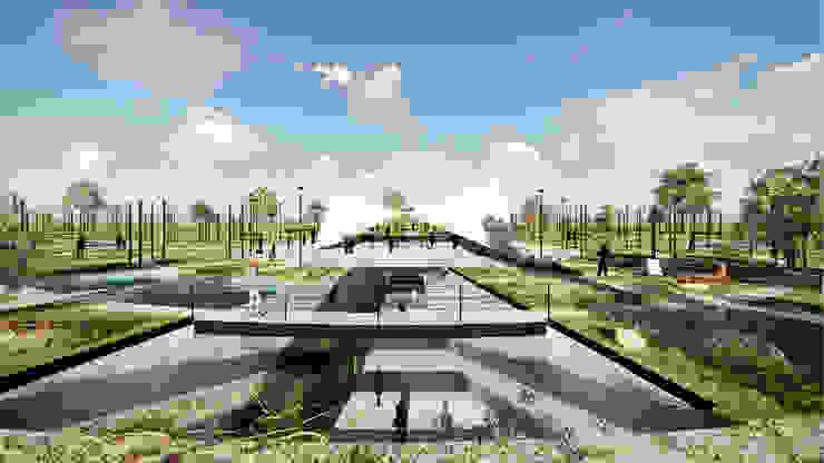 Plaza:  de estilo industrial por gOO Arquitectos, Industrial