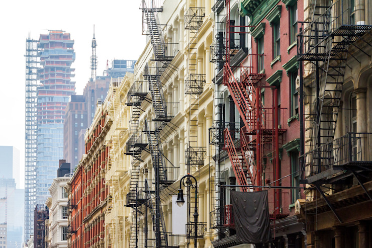 Long row of colorful buildings in the Soho neighborhood of Manhattan, New York City by homify