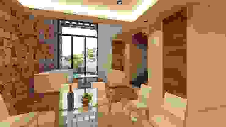 SENDEROS MAYAKOBA Comedores modernos de Art.chitecture, Taller de Arquitectura e Interiorismo 📍 Cancún, México. Moderno Piedra