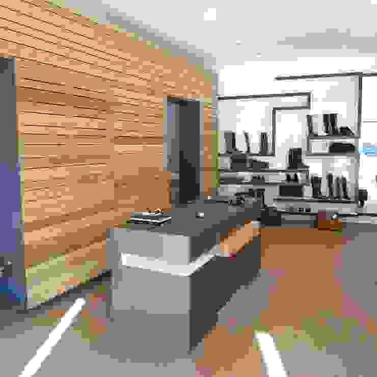 Verbouwing schoenwinkel <q>Sjieke Sjeun</q> Meerssen Moderne winkelruimten van gorissendeponti ontwerpers + makers Modern