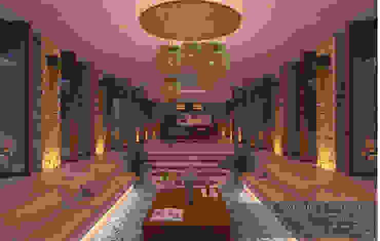 Interiores del área social Salones minimalistas de Guillermo Reyes Torres Arquitectura Minimalista