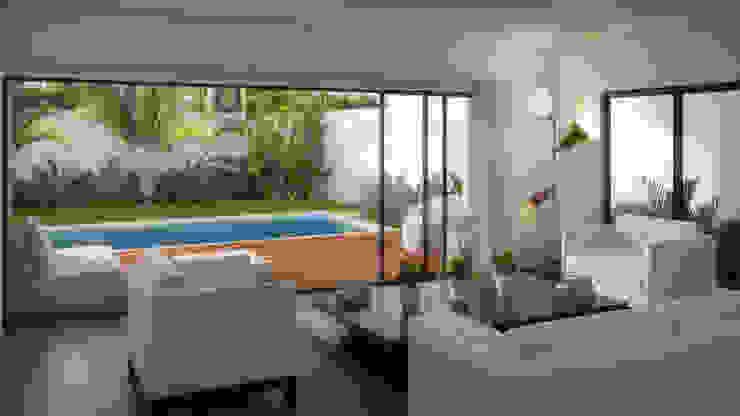 Sala/Terraza Salones minimalistas de Taller Veinte Minimalista