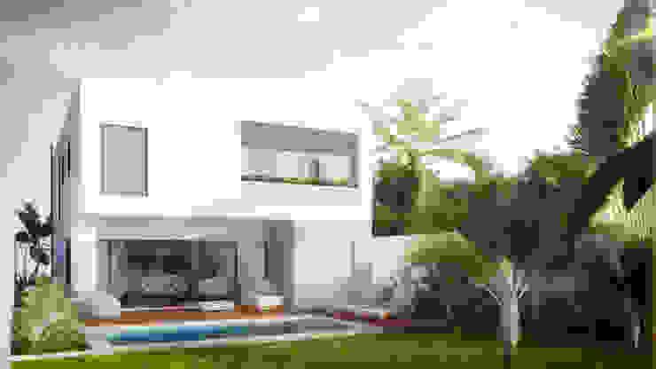 Fachada trasera Casas minimalistas de Taller Veinte Minimalista