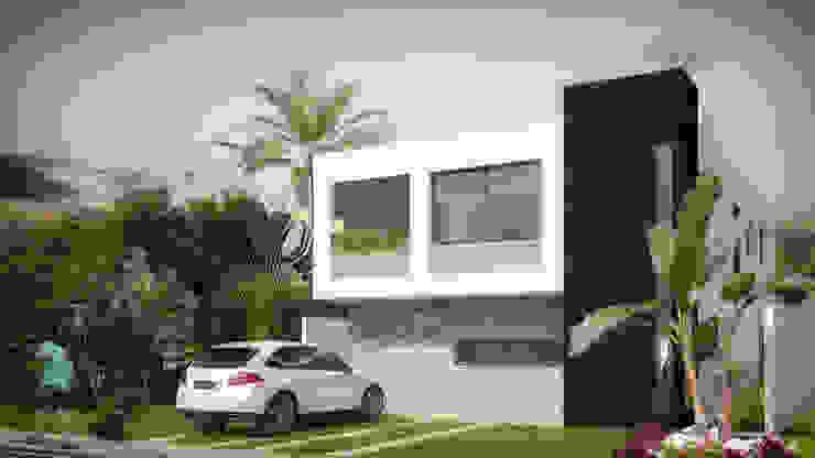 Fachada Principal Casas minimalistas de Taller Veinte Minimalista