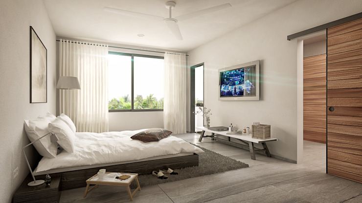 Taller Veinte Minimalist bedroom