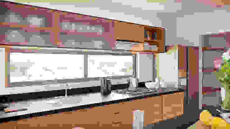 Cocina Cocinas minimalistas de Taller Veinte Minimalista Madera Acabado en madera