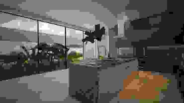 CASA - TEMOZÓN Cocinas modernas de Vau Studio Moderno