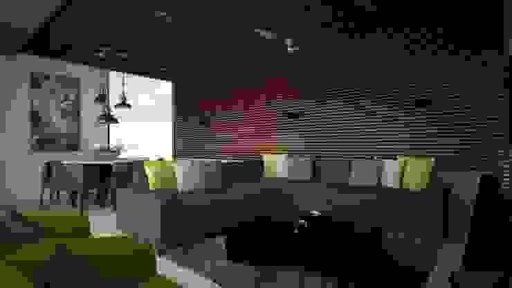 CASA – TEMOZÓN Salas multimedia modernas de Vau Studio Moderno