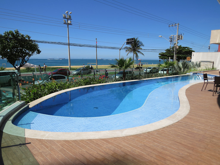 Repsold Arquitetos Pool Ceramic Blue