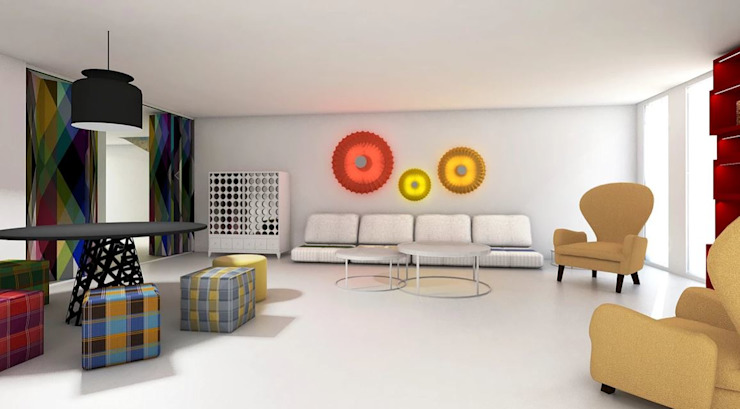 FEMMA Interior Design Modern style media rooms