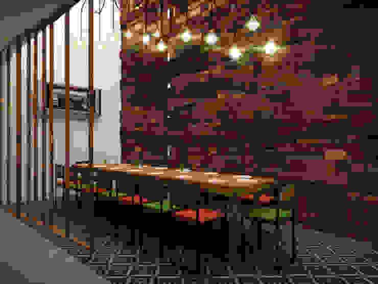 Salón Privado Gastronomía de estilo industrial de Taller Veinte Industrial