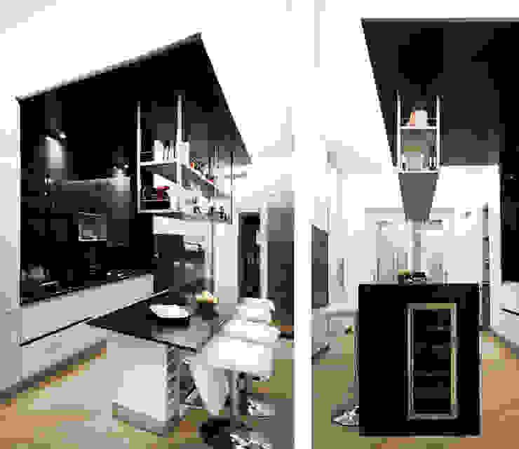 Davide Coluzzi DAZ architect Minimalist kitchen Wood White