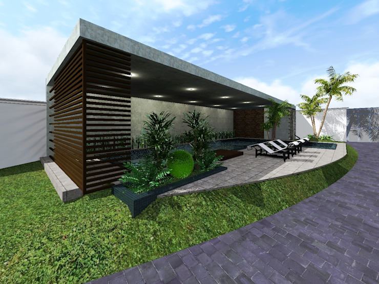 Proyecto Cristo Albercas minimalistas de HC Arquitecto Minimalista