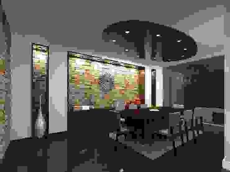 Minimalistyczna jadalnia od HC Arquitecto Minimalistyczny