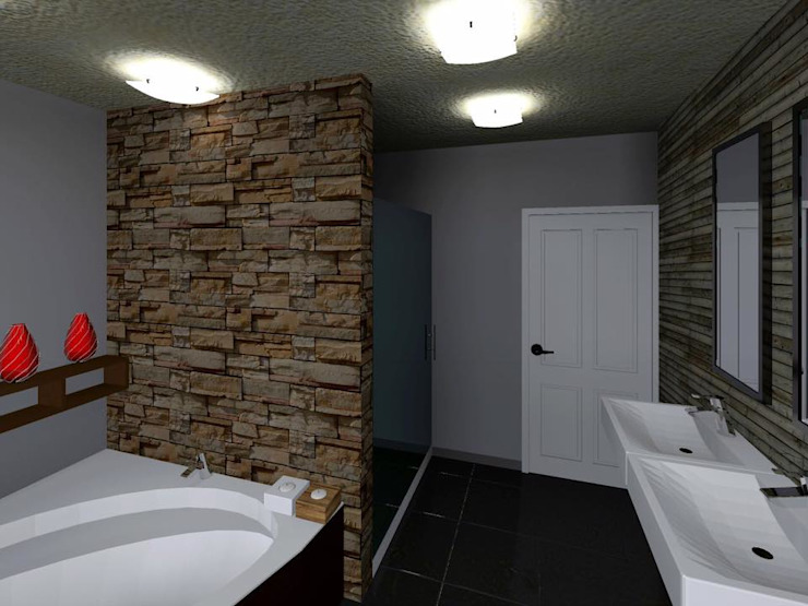 Bathroom by HC Arquitecto,