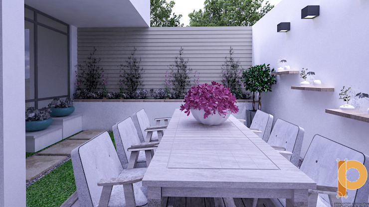 Modern garden by homify Modern Wood-Plastic Composite