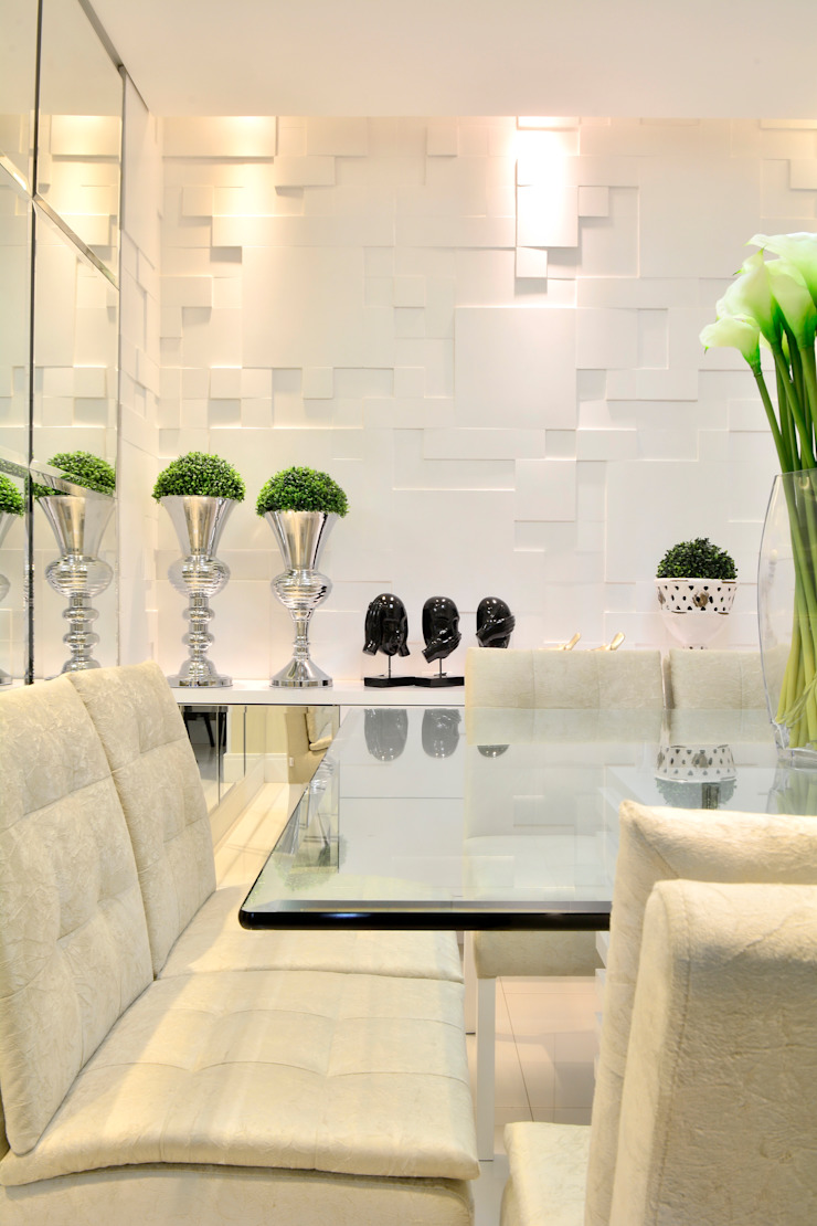 Sala de Jantar Salas de jantar modernas por Graça Brenner Arquitetura e Interiores Moderno Betão