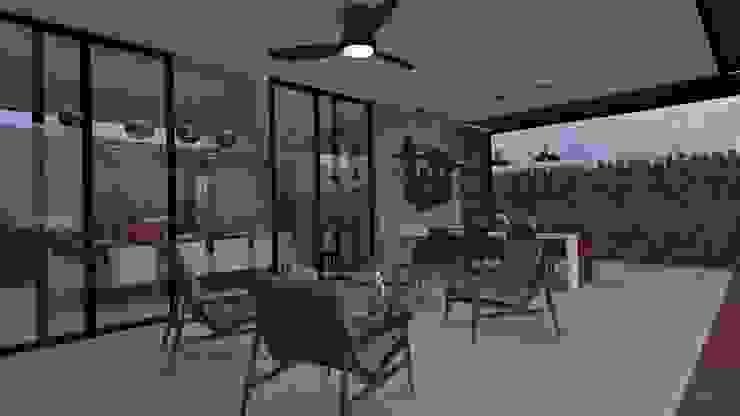 Terraza Balcones y terrazas modernos de Vau Studio Moderno