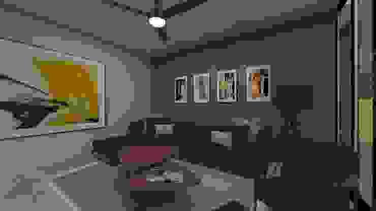 Family Room Salas multimedia modernas de Vau Studio Moderno