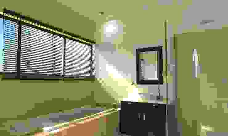 現代浴室設計點子、靈感&圖片 根據 FRACTAL CORP Arquitectura 現代風