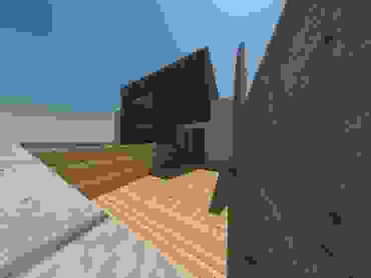 Casa Jara-Andrade, Iquique… Tramas, vacío y luz. Balcones y terrazas modernos de Toledo estudio Arquitectos Moderno