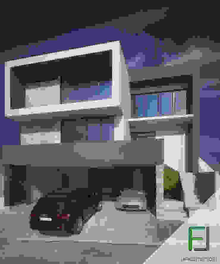 Fachada casa Lagos del Vergel Casas modernas de FL Arquitectos Moderno