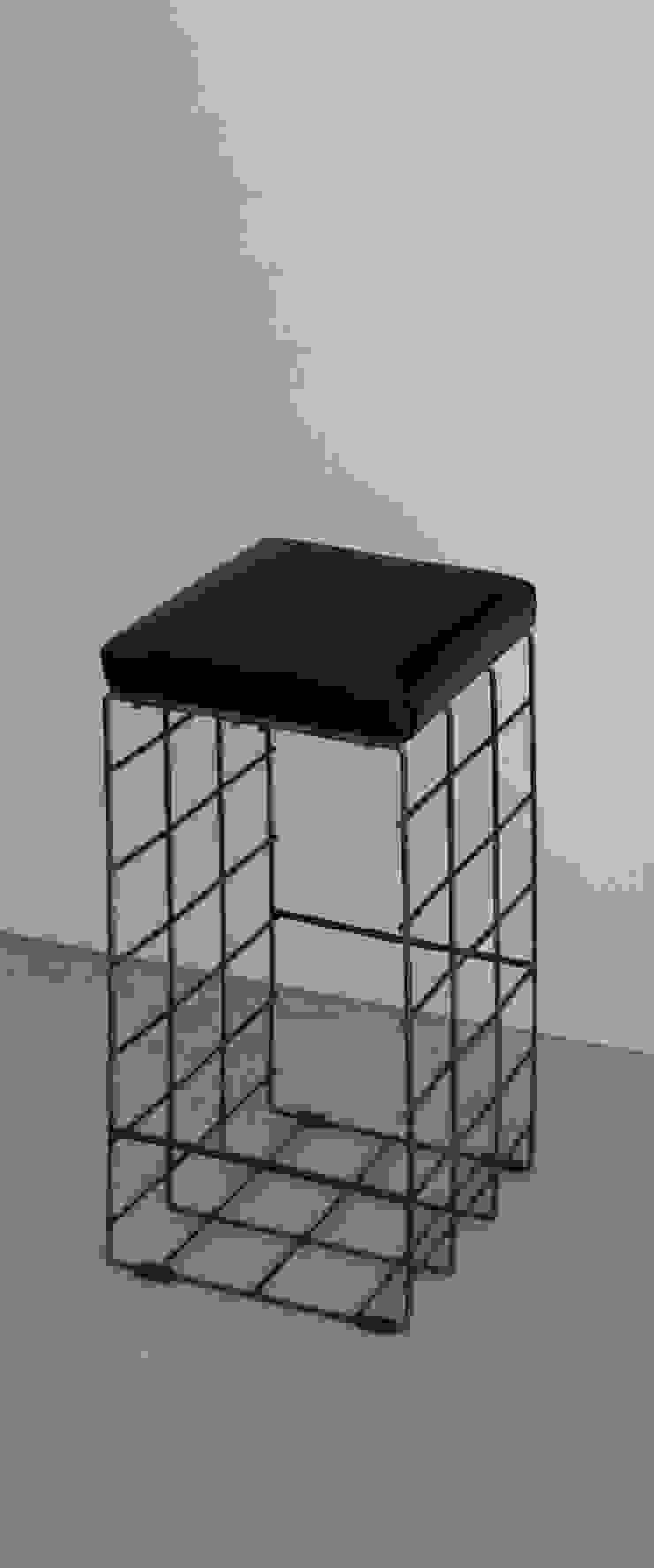 CHIARA MARCHIONNI ARCHITECT WohnzimmerHocker und Stühle Eisen/Stahl Schwarz
