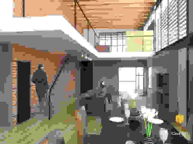 Perspectiva interior Salones modernos de Aformal Moderno Ladrillos