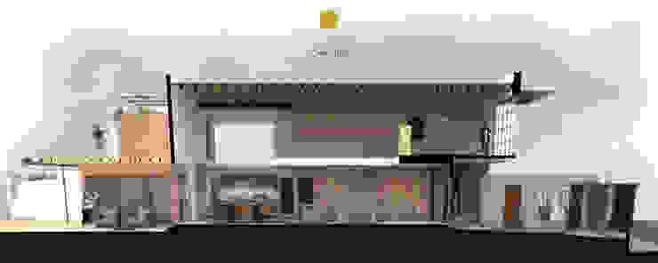 Corte longitudinal Salones modernos de Aformal Moderno Ladrillos