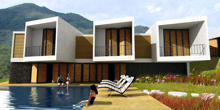 CASA L2_ San Jerónimo - Antioquia Casas de estilo minimalista de @tresarquitectos Minimalista