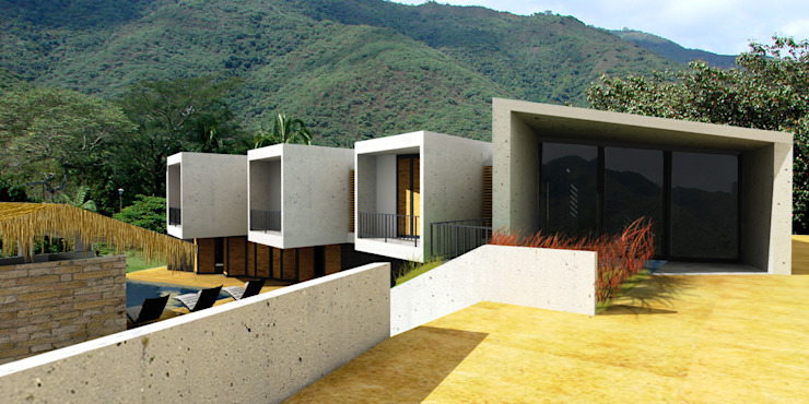 Nhà phong cách tối giản bởi @tresarquitectos Tối giản