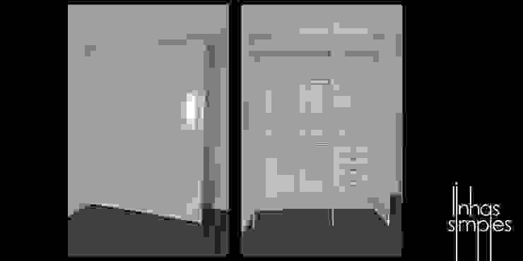 Linhas Simples Dormitorios de estilo moderno
