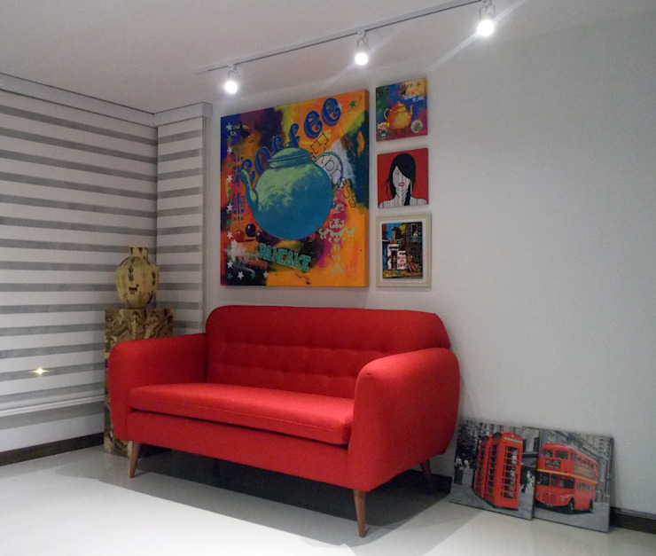 salas modernas de Omar Interior Designer Empresa de Diseño Interior, remodelacion, Cocinas integrales, Decoración