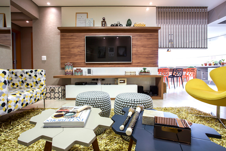 Modern living room by Amanda Pinheiro Design de interiores Modern Wood Wood effect