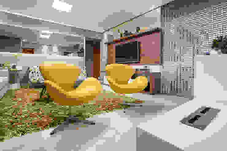 Modern Living Room by Amanda Pinheiro Design de interiores Modern Wood Wood effect