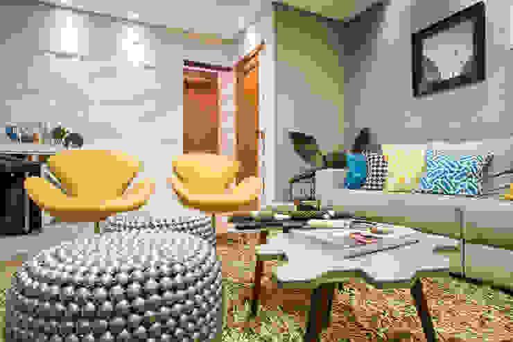 غرفة المعيشة تنفيذ Amanda Pinheiro Design de interiores , حداثي