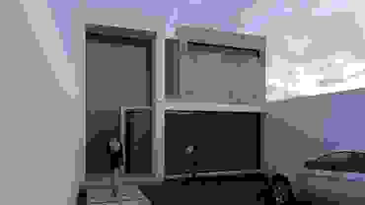 Fachada principal Garajes minimalistas de Architektur Minimalista