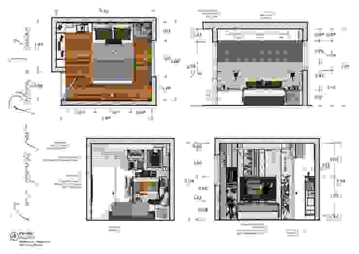 Dormitorio Matrimonial de A3 Interiors