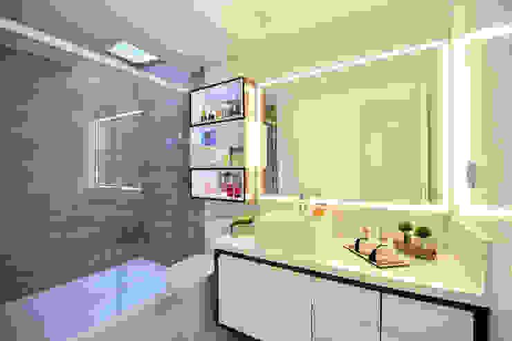 Banheiro Graça Brenner Arquitetura e Interiores Casa de banhoArmários MDF Cinzento
