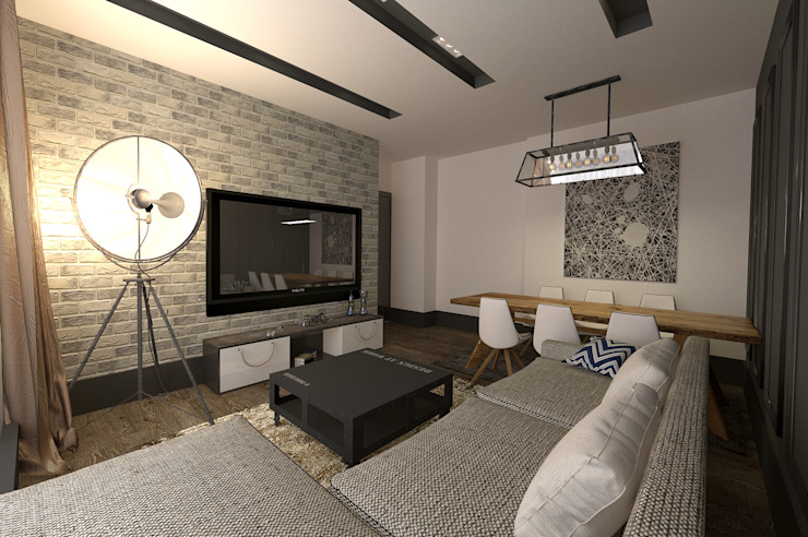 Wohnzimmer von 50GR Mimarlık, Modern