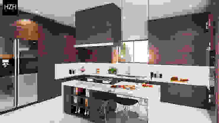 Modern kitchen by HZH Arquitectura & Diseño Modern