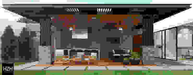 Diseño de palapa/área social. HZH Arquitectura & Diseño Balcones y terrazas modernos