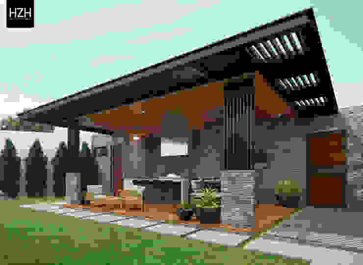 Modern balcony, veranda & terrace by HZH Arquitectura & Diseño Modern