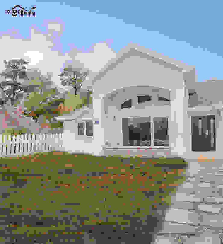 꿈속의 동화같은 단층 목조주택 지중해스타일 주택 by 꿈애하우징 지중해