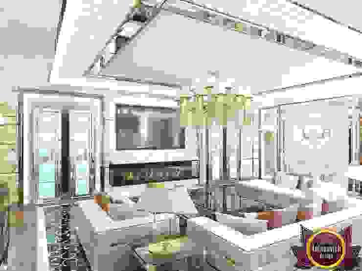 モダンデザインの リビング の Luxury Antonovich Design モダン