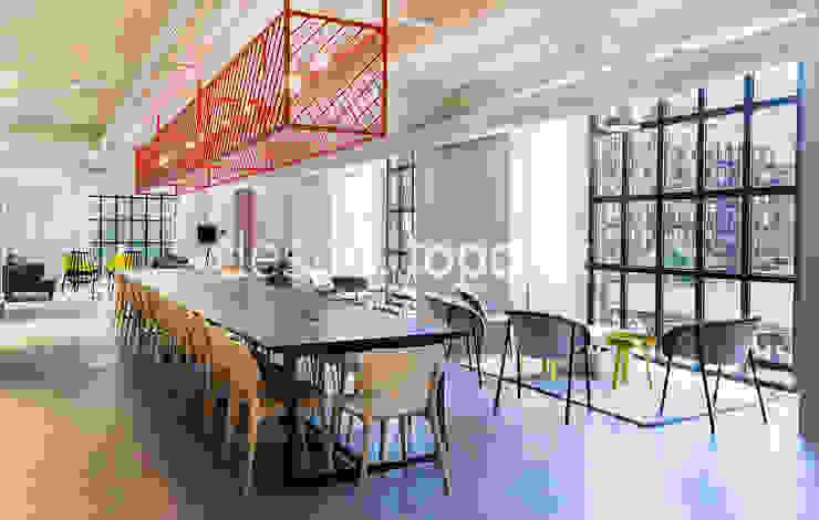 Topcret Studio in stile industriale Grigio