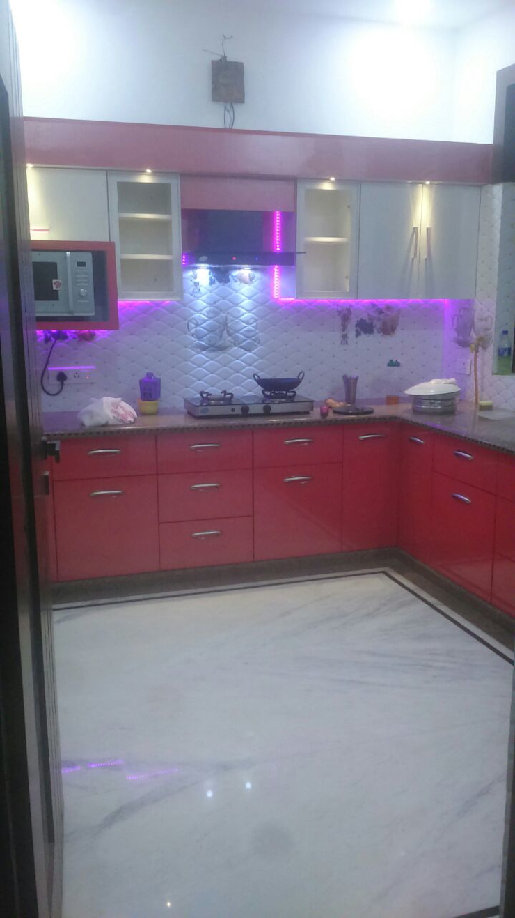 Interior Designer for a Residential house Asian style kitchen by 360 Home Interior Asian