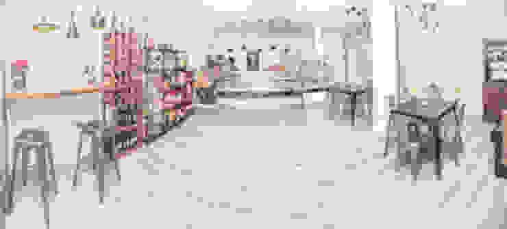 Panorámica del local Gastronomía de estilo industrial de IN BIANCO Industrial